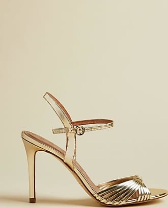 Ted Baker Leather Metallic Strappy Sandals in Gold INANNA, Womens Accessories