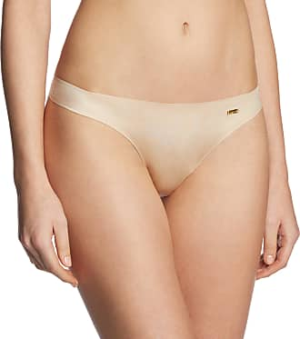 Ultimo Womens Bonded Thong Brief, Beige (Nude), Large