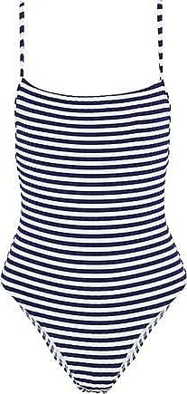 c7c8df3cc17b30 Solid & Striped Solid & Striped Woman The Chelsea Striped Ribbed Swimsuit  Navy ...