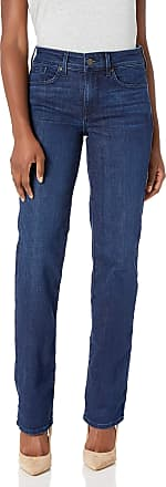 NYDJ Womens Petite Size Marilyn Straight Leg Jeans, Denslowe, 10