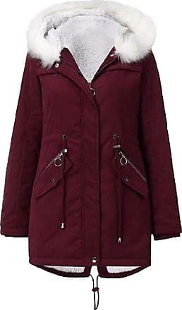 VITryst Womens Drawstring Fur Hooded Zipper Long Coat Casual Warm Outwear Jackets Overcoats Tops,1,X-Large
