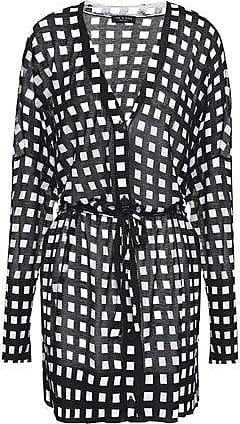 Rag & Bone Rag & Bone Woman Checked Cotton Cardigan Black Size XXS