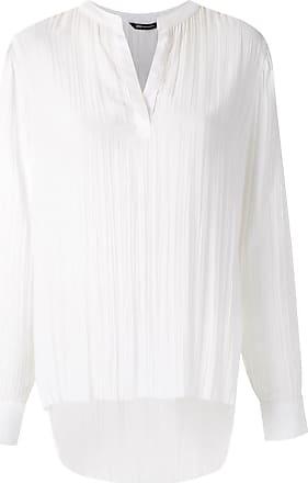 Uma Camicia con effetto stropicciato - Di colore bianco