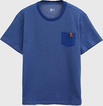 Reserva Mini Camiseta Reserva Mini Infantil Bolso Azul/Branco