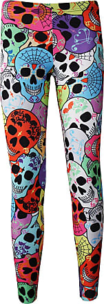 Insanity Cute Gothic Multi Sugar Candy Skulls All Over Print Leggings (M/L)