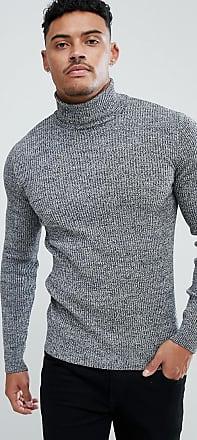 Asos Jersey ajustado de cuello alto en canalé con toques de blanco y negro  de ASOS 9b09a4fce79c
