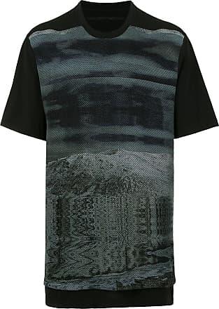 Julius Camiseta oversized com estampa gráfica - Preto