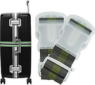 Yin's Kit 2 Cintas de Segurança para Mala de Viagem Bagagem Verde