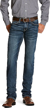 Ariat Mens M7 Rocker Stretch Coltrane Stackable Straight Leg Jeans in Silverton Cotton, Size 32 30, by Ariat
