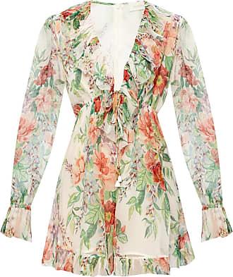 Zimmermann Floral-printed Dress Womens White