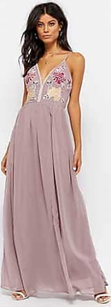 Forever 21 Forever 21 Floral Embroidered Prom Gown Taupe/grey