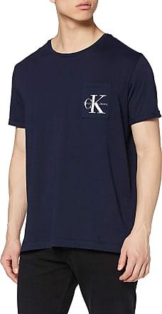 Calvin Klein Jeans Mens Bolan Re Colour T-Shirt, Blue (Night Sky 402), Large