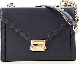 710703bf284 Michael Kors Shoulder Bag for Women On Sale, Admiral Blue, Leather, 2017,