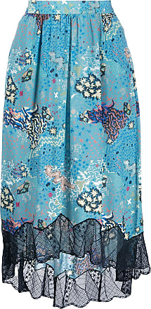 Zadig & Voltaire straight fit scalloped lace skirt - Blue