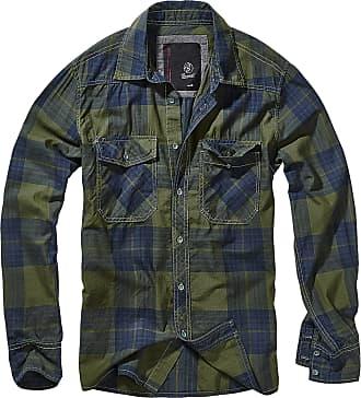 Brandit Checkshirt Men Flanel Shirt Green-Blue 5XL, 100% Cotton, Regular