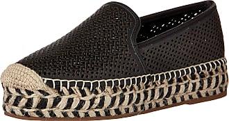 Vince Camuto Womens Hamorra Espadrille Wedge Sandal, Black/Natural, 5.5 UK