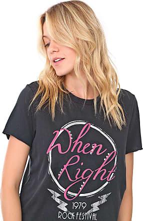 Only Camiseta Only Reta Dhen Right Preta