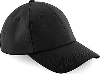 Beechfield Unisex Authentic 6 Panel Baseball Cap (One Size) (Black)