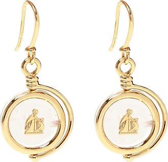 Lanvin Brass Earrings Womens Gold