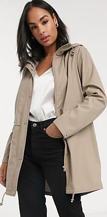 Vero Moda lightweight rain coat in beige-Grey