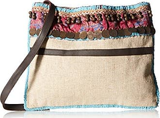 ále by Alessandra Womens Calista Beaded and Embellished Tribal Bag, Natural, One Size