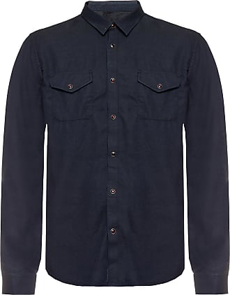 John Varvatos Shirt With Pockets Mens Grey