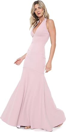 Lança Perfume Vestido Lança Perfume Longo Frente Única Rosa
