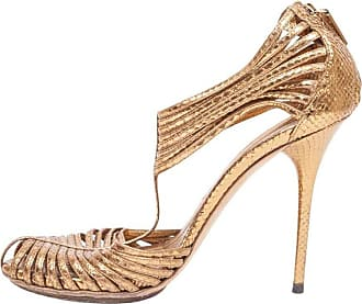 100699eb9d3 Gucci High-heeled Sandals In Golden Python