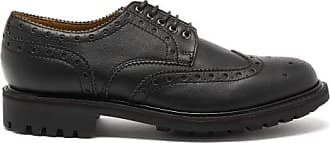 Grenson Archie Faux-leather Brogues - Mens - Black