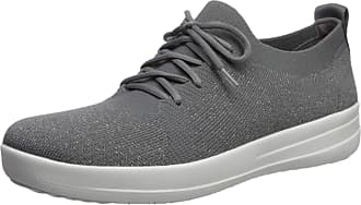 4ffb86094fee FitFlop FitFlop F-Sporty Uberknit Sneakers - Metallic Weave Colour  Charcoal