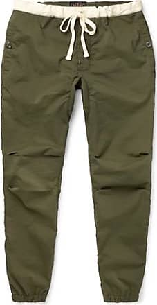 70aa59179b7 Beams Plus Slim-fit Tapered Drawstring Ripstop Trousers - Green