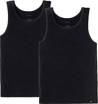 481bf53f356fa Schiesser Herren Achsel Shirt 95/5 2er Pack, Farbe:Schwarz (000)