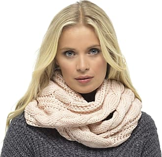 Foxbury Ladies Chunky Cable Knit Snood Pink