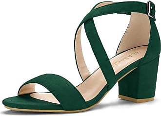 green heeled sandals uk