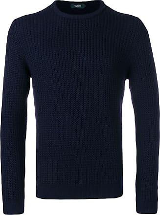 Zanone Suéter decote careca - Azul