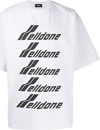 We11done oversized logo-print T-shirt - White