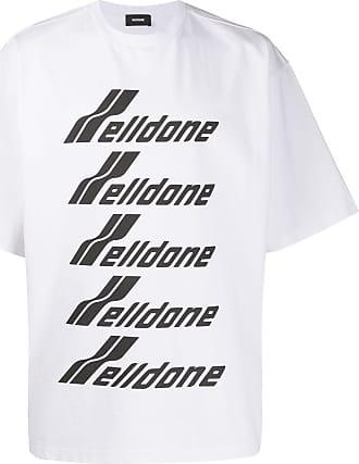 We11done Camiseta oversized com estampa de logo - Branco