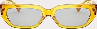 Valentino Valentino Occhiali Occhiale Da Sole Squadrato In Acetato Vlogo Donna Giallo Acetato 100% OneSize
