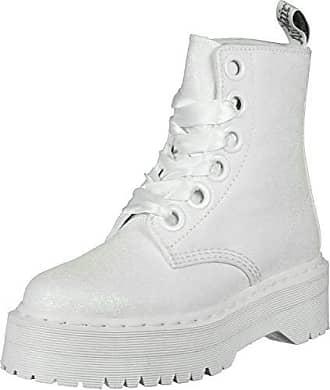 77c41b5c79 Dr. Martens Molly Damen Iridescent Weiß Glitter Stiefel-UK 7