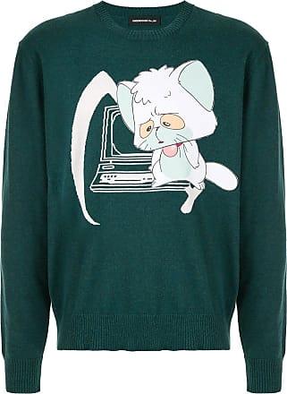 Undercover Suéter com patch - Verde