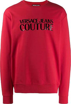 Versace Jeans Couture logo print sweatshirt - Vermelho