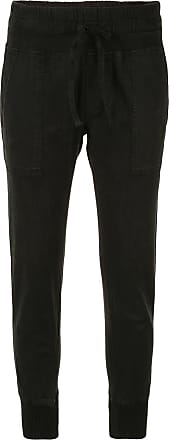 James Perse slim-fit cropped trousers - Black