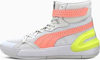 Puma Womens PUMA Sky Modern Basketball Shoe Sneakers, Glacier Grey/Fizzy Yellow, size 10.5, Shoes