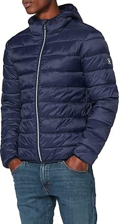 Original Penguin Original Penguin Mens Lightweight Hooded Puffer Jacket, Blue (Dark Sapphire 413), Medium (Size:M)