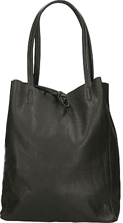 Chicca Borse Aren - Womans Shoulder Bag in Genuine Leather Made in Italy - 27x33x13 Cm