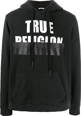 True Religion Moletom com capuz e estampa de logo - Preto