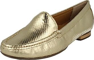 Van Dal Ladies Fashion Loafers Cherry - Gold Leather - UK Size 6.5D - EU Size 40 - US Size 8.5