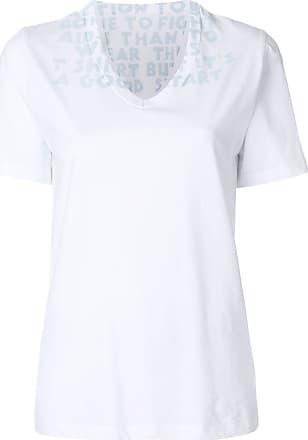 Maison Margiela Camiseta gola V - Branco
