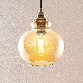 Lindby Tymoni lámpara colgante vidrio ámbar 1 luz