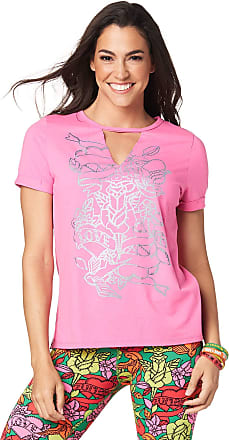 Zumba Womens Tee with Fashion Print X-Small Ballet Pink